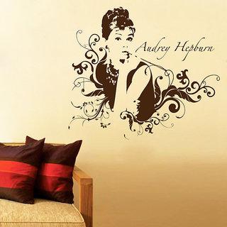 Decor Kafe Audrey Hepburn Wall Decal (32x28 Inch)