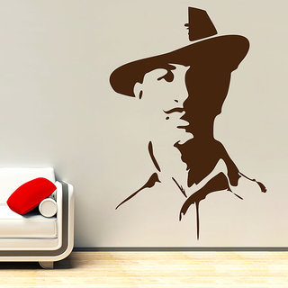 Decor Kafe Shaheed Sardar Bhagat Singh Wall Sticker 30x44 Inch)