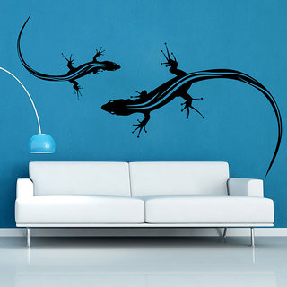 Decor Kafe Lizard Twins Wall Sticker (28x23 Inch)