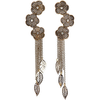 Envy Jewellery Gold Plated Metal Dangle Earring