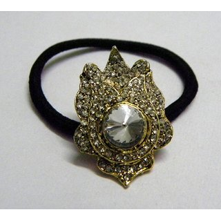 Indian Designer Exclusive Hair Band With Stone Ftd Golden (Option 7)