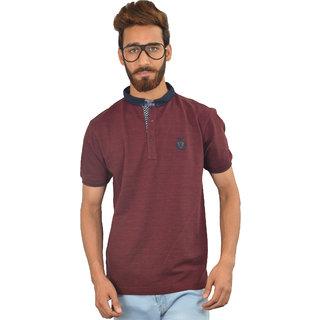 Maroon Solid Urban Trail T-shirt