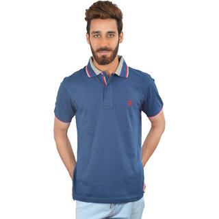 Blue Solid Urban Trail T-shirt