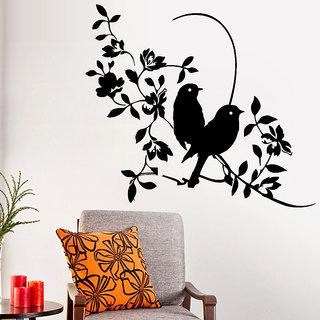 Decor Kafe Sparrow Style Wall Sticker (18x16 Inch)