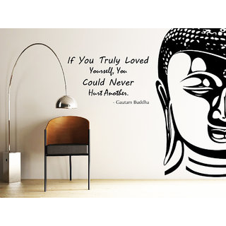 Decor Kafe Buddha Wall Decal (32x27 Inch)
