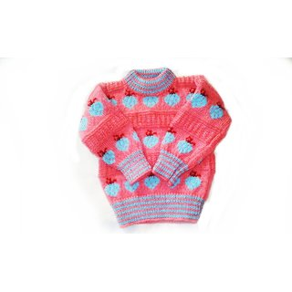 100 Pure Hand Knitted Woolens sweaters for Kids  (1-2) years