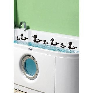 Decor Kafe Sticker Style Floating Ducks Wall Sticker (12x24 Inch)