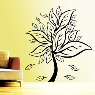 Decor Kafe In Bloom Tree Wall Sticker (35x38 Inch)
