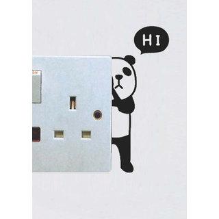 Decor Kafe Decal Style Hidden Panda Wall Sticker 3x5 Inch)