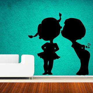 Decor Kafe Boy In Love Wall Decal (25x25 Inch)
