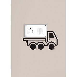 Decor Kafe Decal Style Cargo Van Wall Sticker 9x05 Inch)
