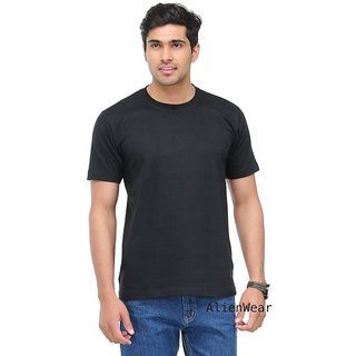 Plain Round Neck TShirt Black
