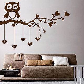 Decor Kafe Owl Love Wall Decal (31x20 Inch)