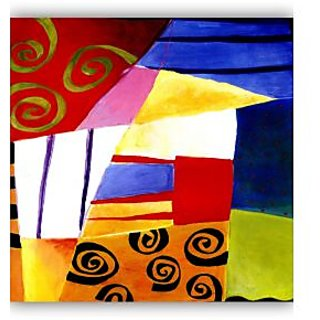 Vitalwalls Abstract Painting Premium Canvas Art Print.(Abstract-105-45cm)
