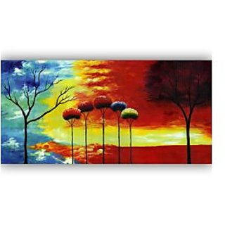 Vitalwalls Abstract Painting Premium Canvas Art Print, On Pure Wooden Frame(Abstract-300-F-60cm)