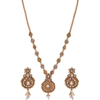 1 gram gold plated temple Design Necklace Set Jewelry 5108