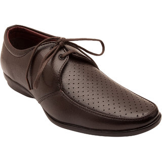 Centto MenS Dots Shoe 9004Brown