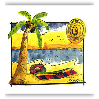 Vitalwalls - Abstract Painting -Premium Canvas Art Print (Abstract-360-45cm)