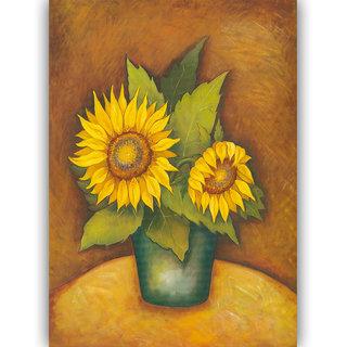 Vitalwalls - Abstract Painting -Premium Canvas Art Print (Abstract-515-45cm)