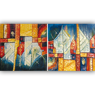 Vitalwalls Abstract Painting Premium Canvas Art Print.(Abstract-186-45cm)