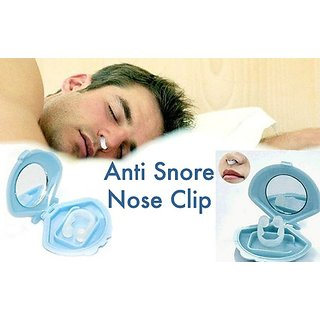 Importikah Silicone Anti Snore Stopper Device Nose Clip Sleeping Aid 1 Piece With Case.