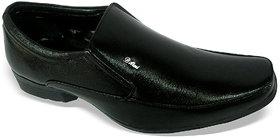 Louis Praiyo Black Mens Formal Slip On Shoes