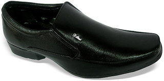 Louis Praiyo Black Mens Formal Slip On Shoes