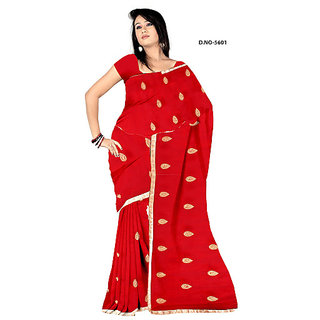 Endra designer red Saree