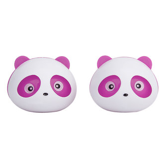 2 Pcs Panda Car Air Freshener Perfume w/Two Clips - Pink