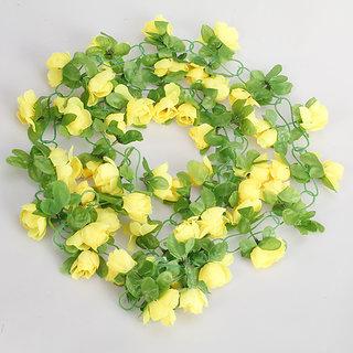 Artificial Rose Garland Silk Flower Vine for Home Wedding Garden Decoration