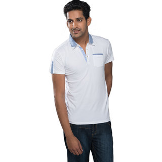 Mavango Pretty Casual Basic White T-shirt for Men