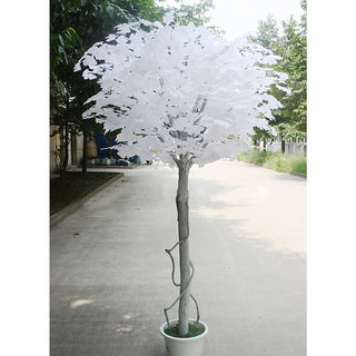 Artificial Ginkgo Leaf for Home Wedding Garden Decoration 12pcs White