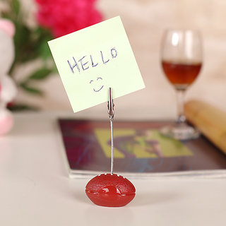 American Football Wire Memo Holder Paper Note Clip