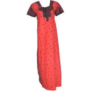 Premium Soft Cotton Red Nighty