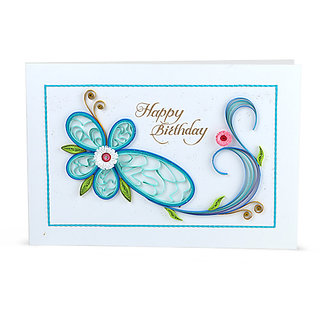 Handmade Quilled Birthday Greeting Card by Handcrafted Emotions (HE002)