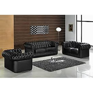 Black elegant sofa set