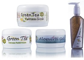 Ayurvedic Skin Brightening Green Tea Fairness Pack