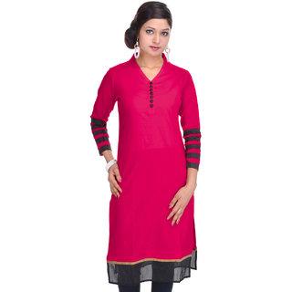 Jaipur Kurtis Pure Cotton 3/4th Sleeves Red Kurti
