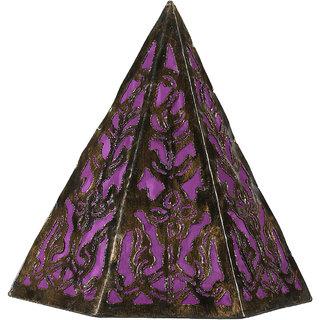 Pyramid Hanging Lamp Purple Small