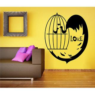 5447caecb49 Decor Kafe Love Bird Cage Wall Sticker (34x40 Inch)