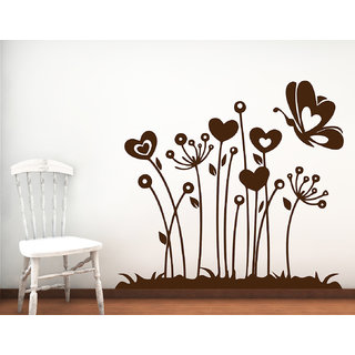 Decor Kafe Lovely Flowers Wall Sticker (32x29 Inch)