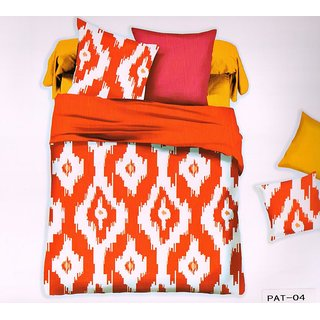 Welhouse India Super Elegent Print Cotton King Bedsheet with two pillow covers