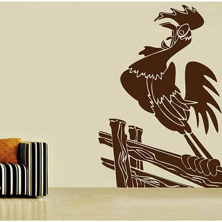 Decor Kafe Cock Wall Sticker (21x32 Inch)
