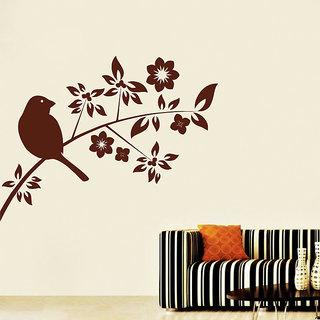 Decor Kafe White Bird Wall Sticker (22x16 Inch)