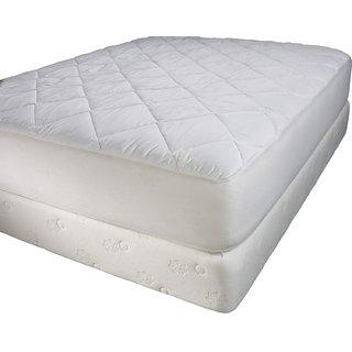 Linenwalas Cotton Mattress Protector,Queen size, White