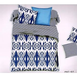 Welhouse India New Fasion Print Cotton King Bedsheet with two pillow covers