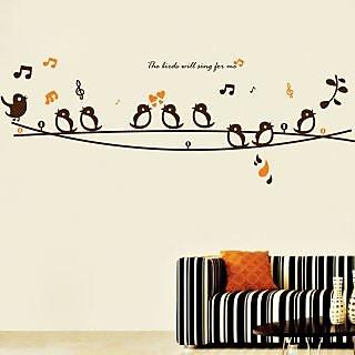 Decor Kafe Singing Birds Wablbl Sticker 31x11 Inch)