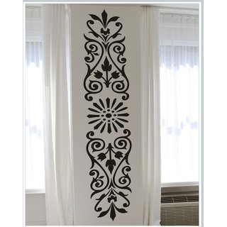Decor Kafe Decal Style Floral Pattern Wall Sticker (8x42 Inch)