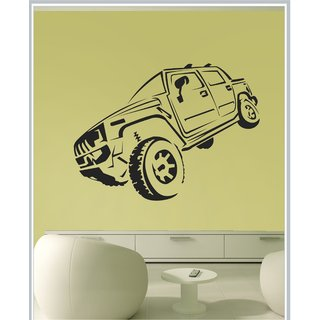 Decor Kafe Sticker Style Hummer Wall Sticker (40x30 Inch)
