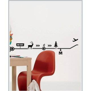 Decor Kafe Sticker Style One Way Wall Sticker 48x12 Inch)